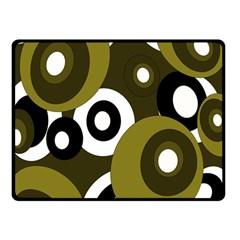 Green pattern Fleece Blanket (Small)