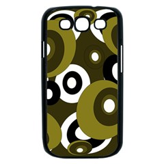 Green pattern Samsung Galaxy S III Case (Black)