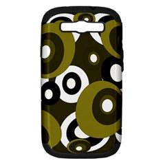 Green pattern Samsung Galaxy S III Hardshell Case (PC+Silicone)