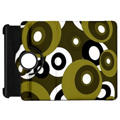 Green pattern Kindle Fire HD Flip 360 Case