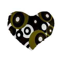 Green pattern Standard 16  Premium Heart Shape Cushions