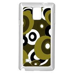 Green pattern Samsung Galaxy Note 4 Case (White)