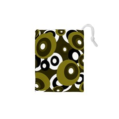 Green Pattern Drawstring Pouches (xs)