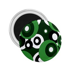 Green pattern 2.25  Magnets