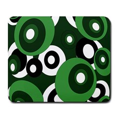 Green pattern Large Mousepads