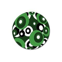 Green pattern Magnet 3  (Round)