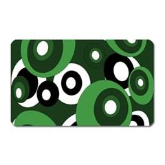 Green pattern Magnet (Rectangular)
