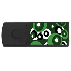 Green pattern USB Flash Drive Rectangular (2 GB)