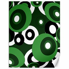 Green pattern Canvas 12  x 16
