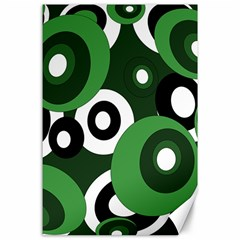 Green pattern Canvas 24  x 36
