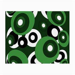 Green pattern Small Glasses Cloth (2-Side)