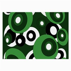 Green pattern Large Glasses Cloth