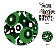 Green pattern Multi-purpose Cards (Round)
