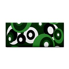 Green Pattern Hand Towel