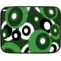 Green pattern Fleece Blanket (Mini)