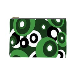 Green pattern Cosmetic Bag (Large)