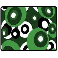 Green pattern Fleece Blanket (Medium)