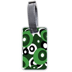 Green pattern Luggage Tags (Two Sides)