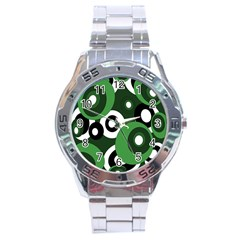 Green pattern Stainless Steel Analogue Watch