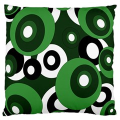 Green pattern Large Cushion Case (One Side)