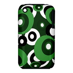 Green pattern Apple iPhone 3G/3GS Hardshell Case (PC+Silicone)