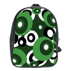 Green pattern School Bags (XL)