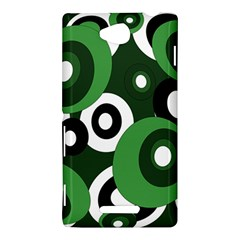 Green pattern Sony Xperia C (S39H)