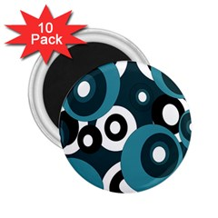 Blue pattern 2.25  Magnets (10 pack)