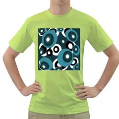 Blue Pattern Green T Shirt
