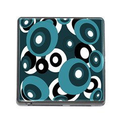 Blue pattern Memory Card Reader (Square)