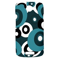 Blue pattern HTC One S Hardshell Case