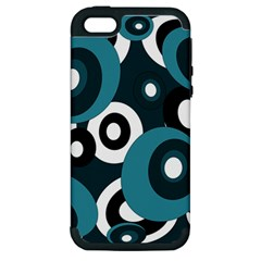 Blue pattern Apple iPhone 5 Hardshell Case (PC+Silicone)