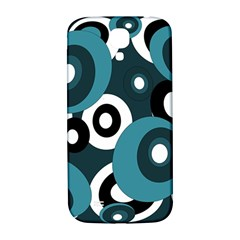 Blue pattern Samsung Galaxy S4 I9500/I9505  Hardshell Back Case
