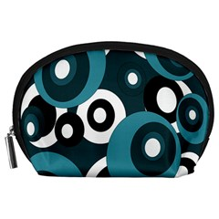 Blue pattern Accessory Pouches (Large)