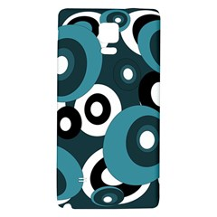 Blue pattern Galaxy Note 4 Back Case