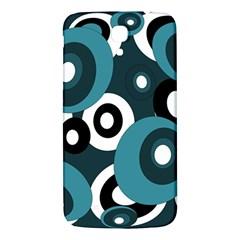 Blue pattern Samsung Galaxy Mega I9200 Hardshell Back Case