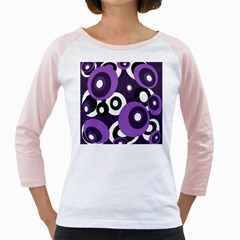 Purple pattern Girly Raglans