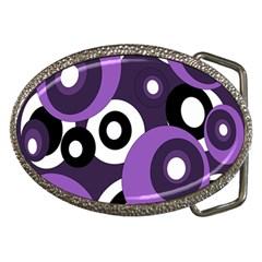 Purple pattern Belt Buckles
