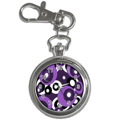 Purple pattern Key Chain Watches