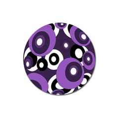 Purple pattern Magnet 3  (Round)