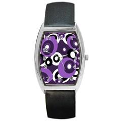 Purple pattern Barrel Style Metal Watch