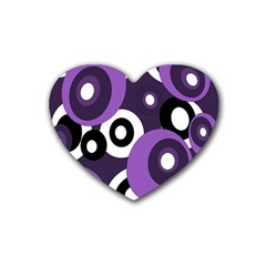 Purple pattern Heart Coaster (4 pack)