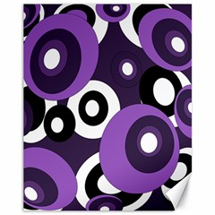Purple pattern Canvas 11  x 14
