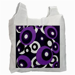 Purple pattern Recycle Bag (One Side)