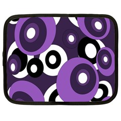 Purple pattern Netbook Case (XL)