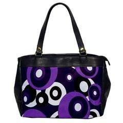Purple pattern Office Handbags