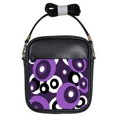 Purple pattern Girls Sling Bags