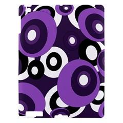 Purple pattern Apple iPad 3/4 Hardshell Case