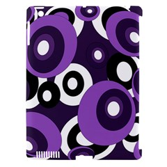 Purple pattern Apple iPad 3/4 Hardshell Case (Compatible with Smart Cover)