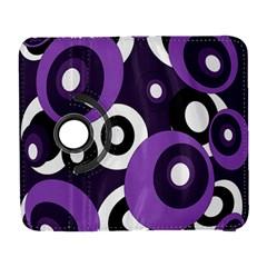 Purple pattern Samsung Galaxy S  III Flip 360 Case